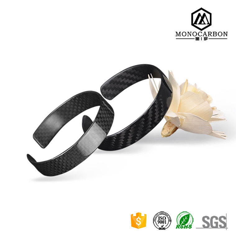 Custom Carbon Fiber Bracelets Relationship Cool Bracelets for Boys Black Matte/Glossy Bracelets