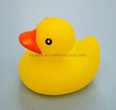 Vinyl Yellow Duck with Blue Dumbbell