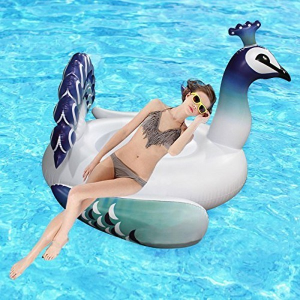 Inflatable Pool Floats Giant Peacock Pool Raft Colorful Blue Peacock pictures & photos