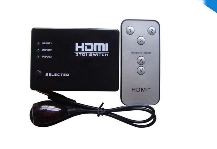 3X1 HDMI Switch with Remote up to 1080P