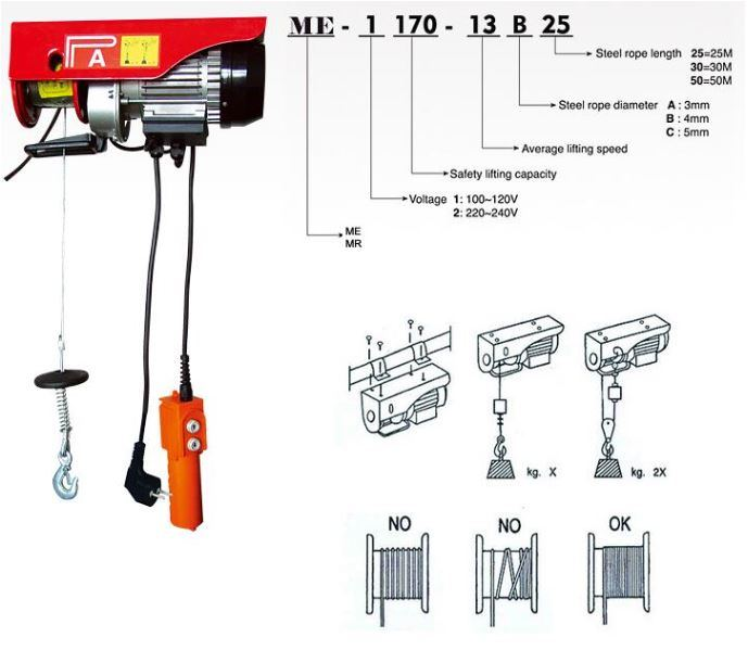 china construction material lifting machine electric hoist hot sale rh wellsunny en made in china com