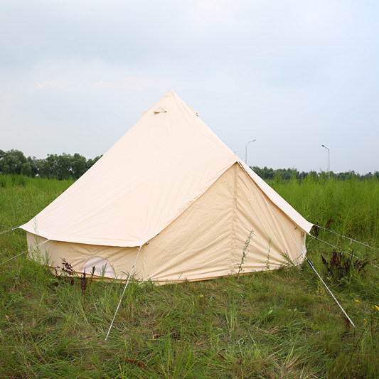 5m Cotton Canvas Luxury Gl&ing Bell Tent with Zipped in Ground Sheet & China 5m Cotton Canvas Luxury Glamping Bell Tent with Zipped in ...