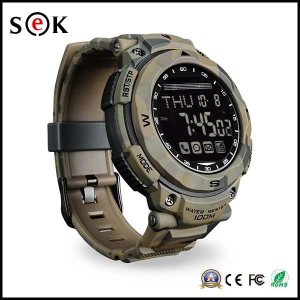 Sek Fashion Waterproof Metal Bluetooth PS1500 Sport Steel Strap Smart Watch for Smart Phones with Pedometer