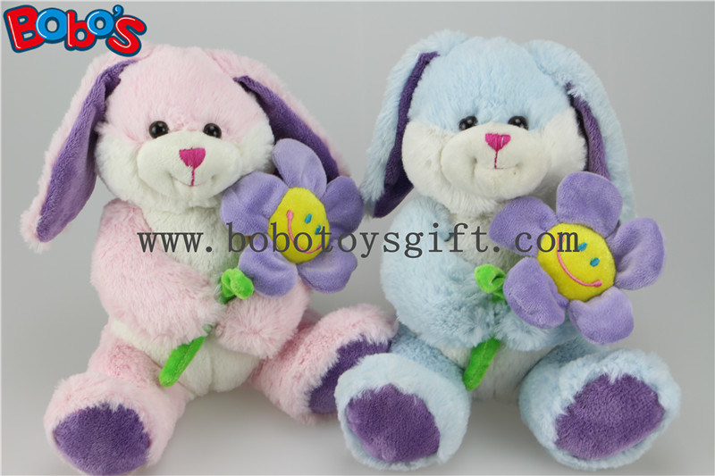 Pink Bunny Toy Stuffed Animal Toy with Sun Flower as Valentine Gifts Bos1155 pictures & photos
