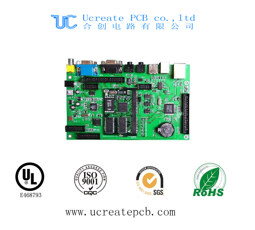 Washing Machine Control PCB Board with Green Solder Mask