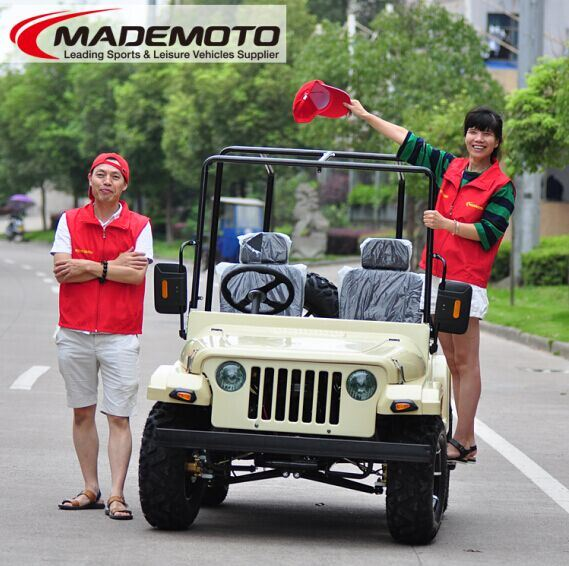 Best Selling UTV Style Mini Jeep Willys 200cc Gy6 Engine with CVT/EEC/EPA/150cc/250cc Engine Can Be Avaliable Jw1501 on Sale