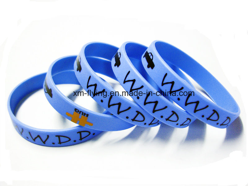 Promotional Customized Logo Printed Silicone Wristbands for Events pictures & photos