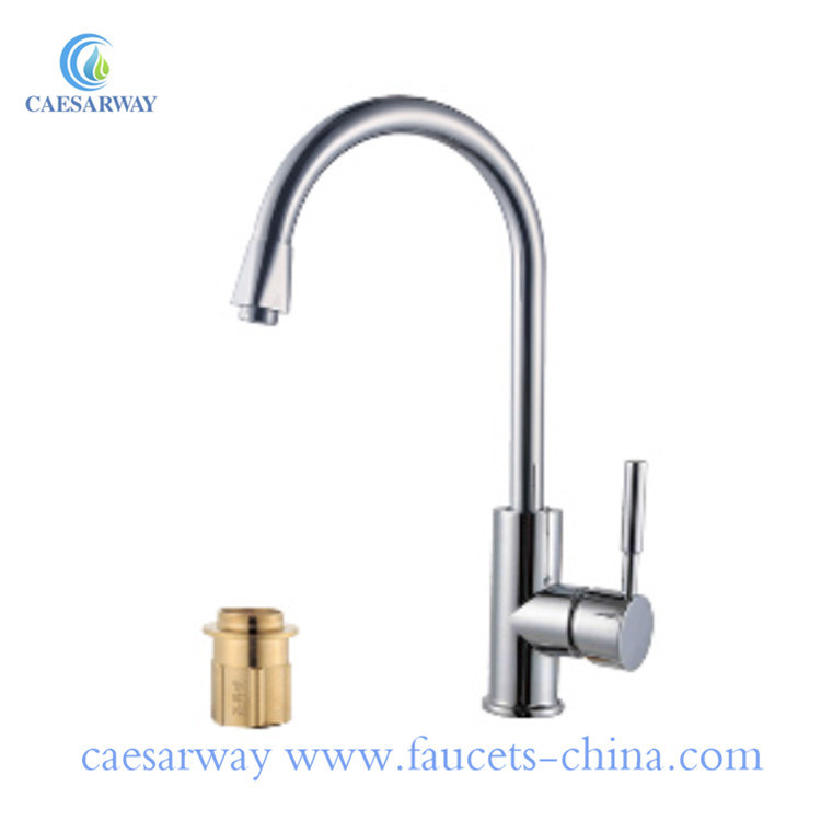 China Hot And Cold Water Classic Kitchen Faucet Space Aluminum Brushed Kitchen Faucet China Kitchen Faucet Kitchen Mixer