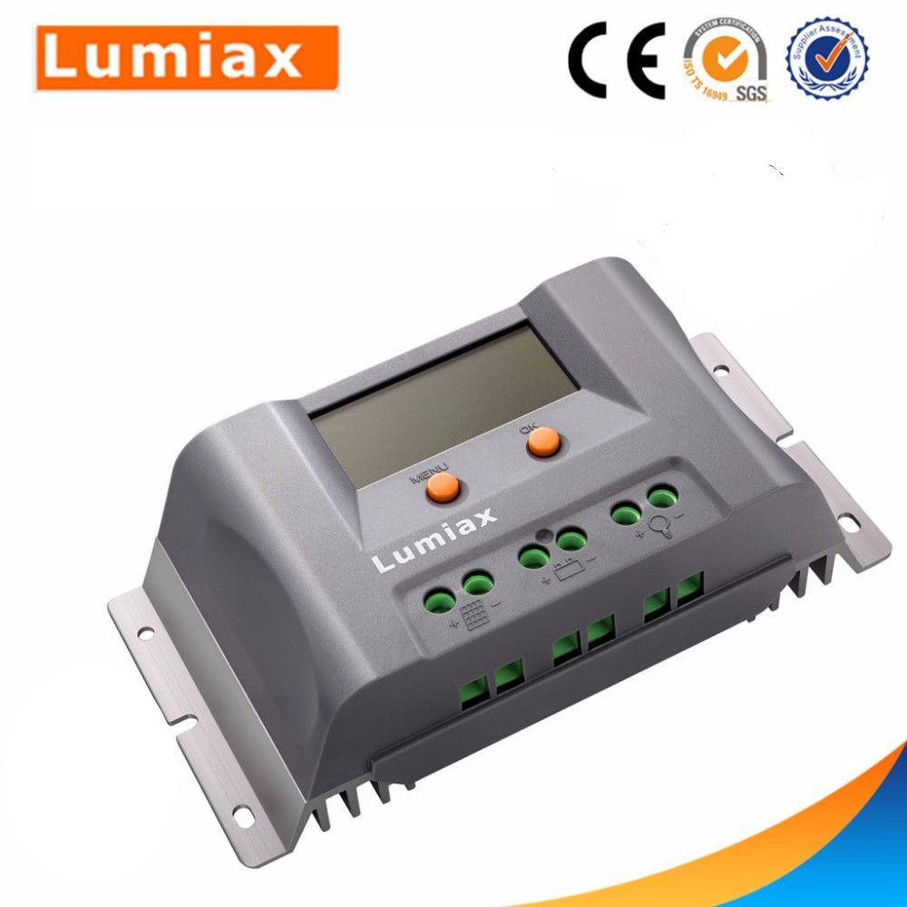 China Lumiax 12v 24v 10a 20a 30a 40a Pwm Lcd Solar Charge Controller With 2 Usb Ports