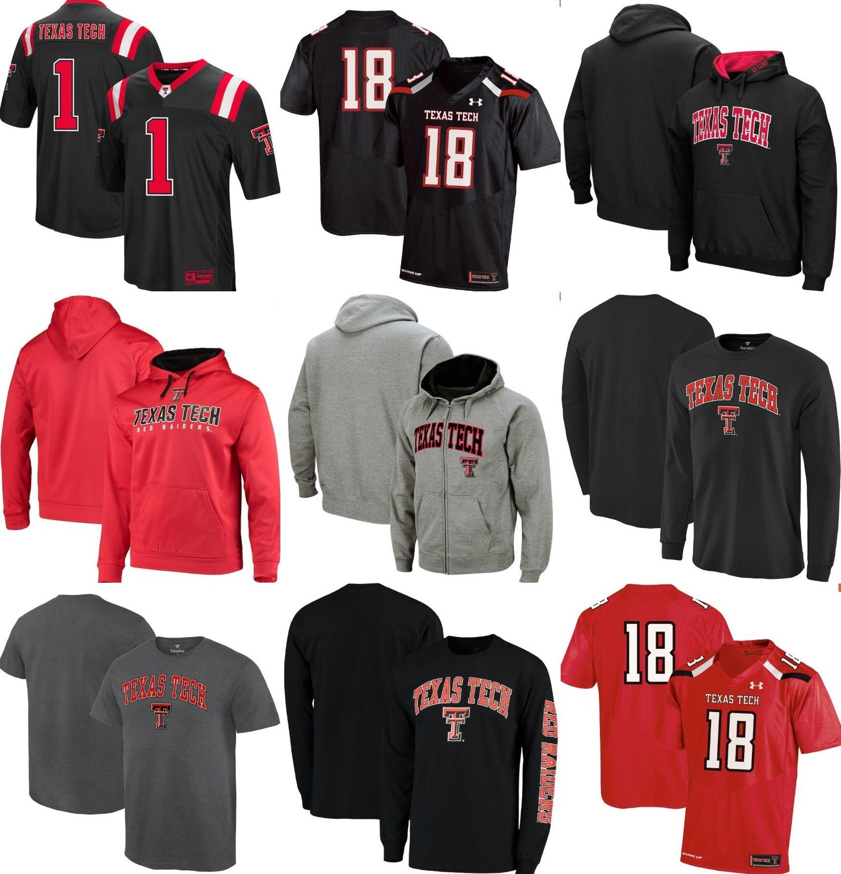 reputable site d1196 568f9 [Hot Item] Customize Texas Tech Red Raiders Ncaa Jersey &Pullover Hoodie &  T-Shirt