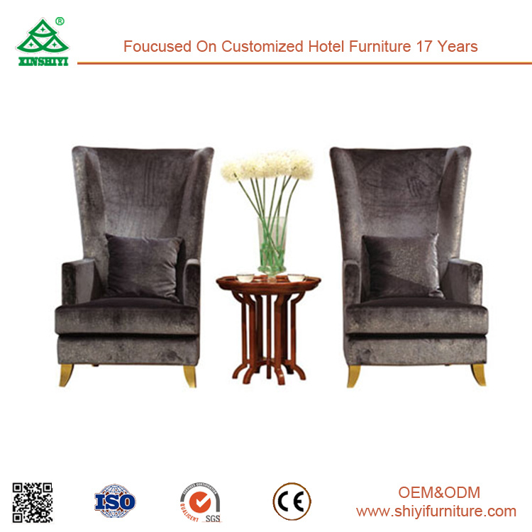 China Modern Leisure Reception Room Hotel Living Furniture Wooden Side Table And Chairs Accent Polywood Adirondack