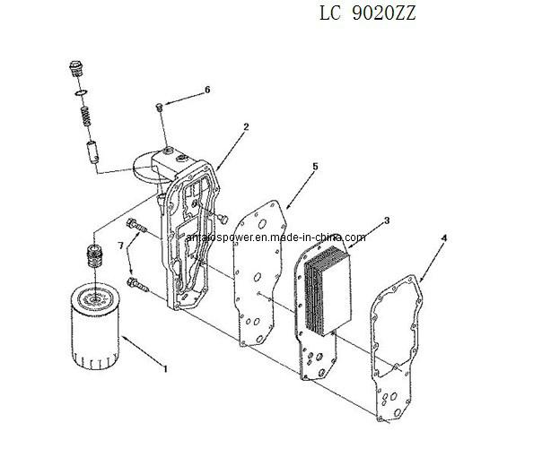 China Oil Cooler Of Deutz Diesel Engine