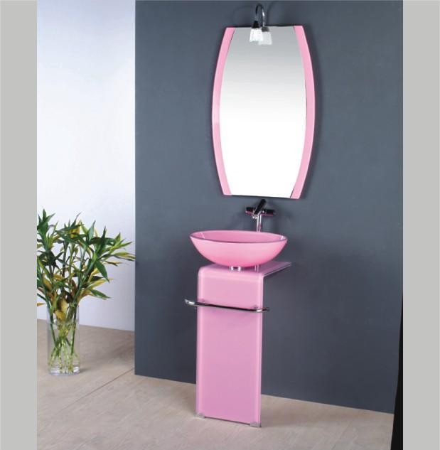 China Glass Wash Basin / Sinks Bathroom / Pink Bathroom Sink (T8174) -  China Glass Wash Basin, Sinks Bathroom