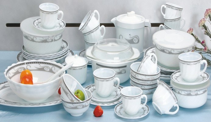 China Heat Resistant Opal Glassware Dinner Set (64A ...