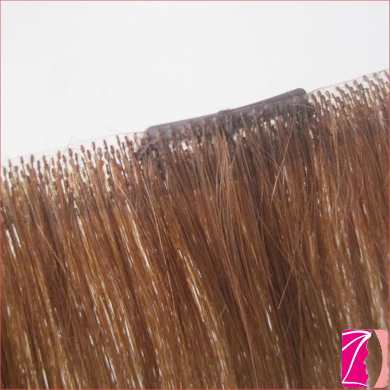 China New Fashion Straight 100 Human Seamless Clip In Hair