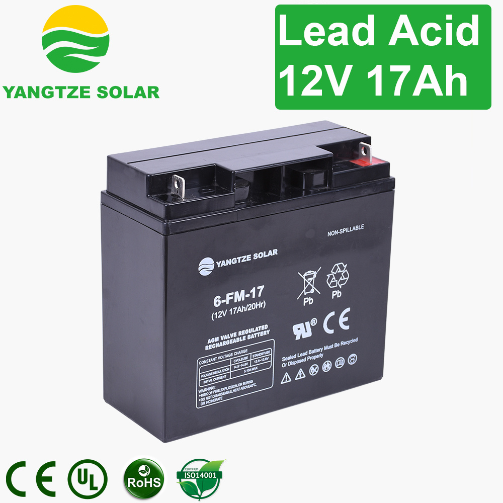 China Free Maintenance 17ah 18ah 12 Volt Rechargeable