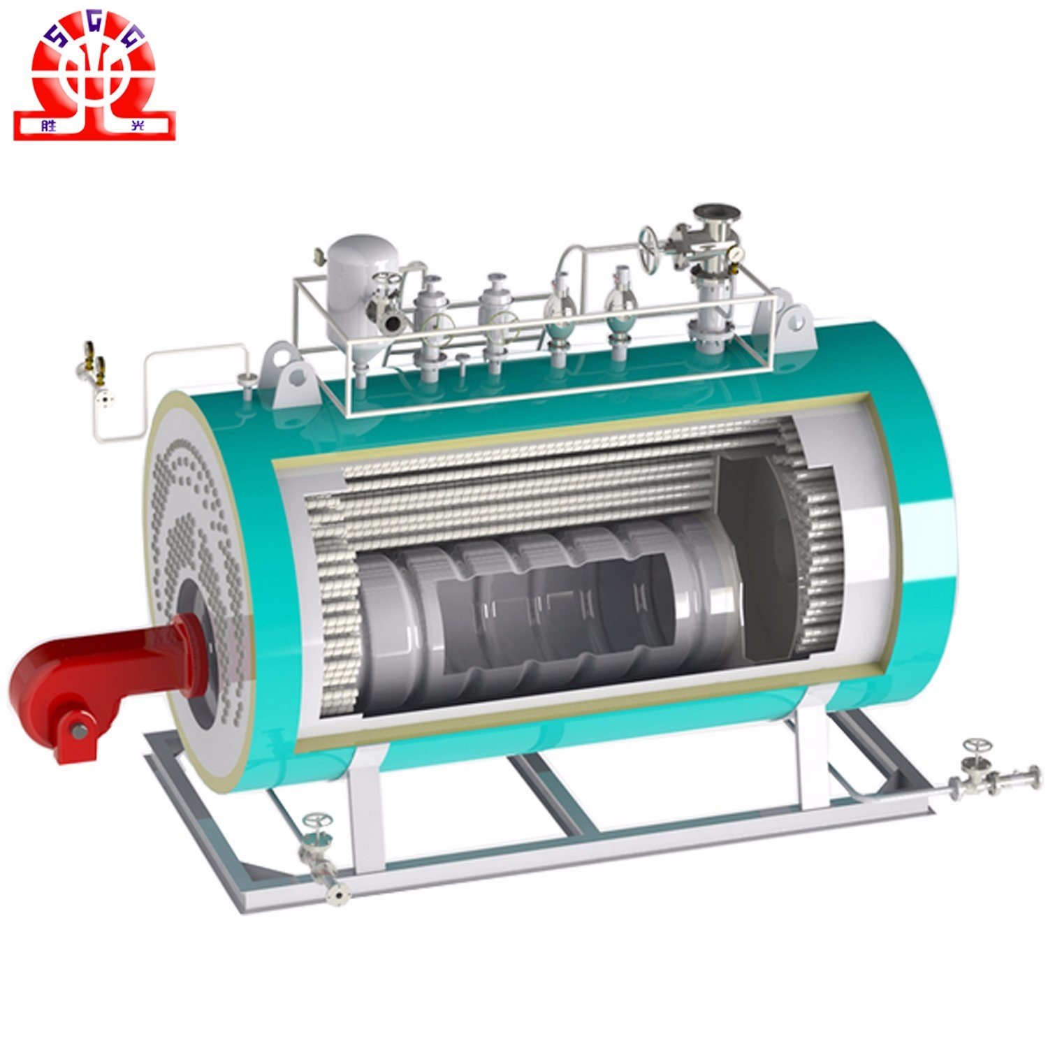 China High Efficiency Central Combustion Oil Gas Fired Hot Water ...