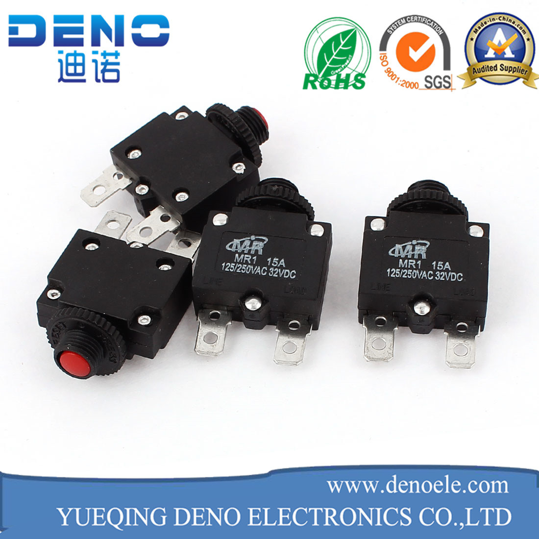 China Plastic 10A Overload Protection Thermal Circuit Breaker Switch ...