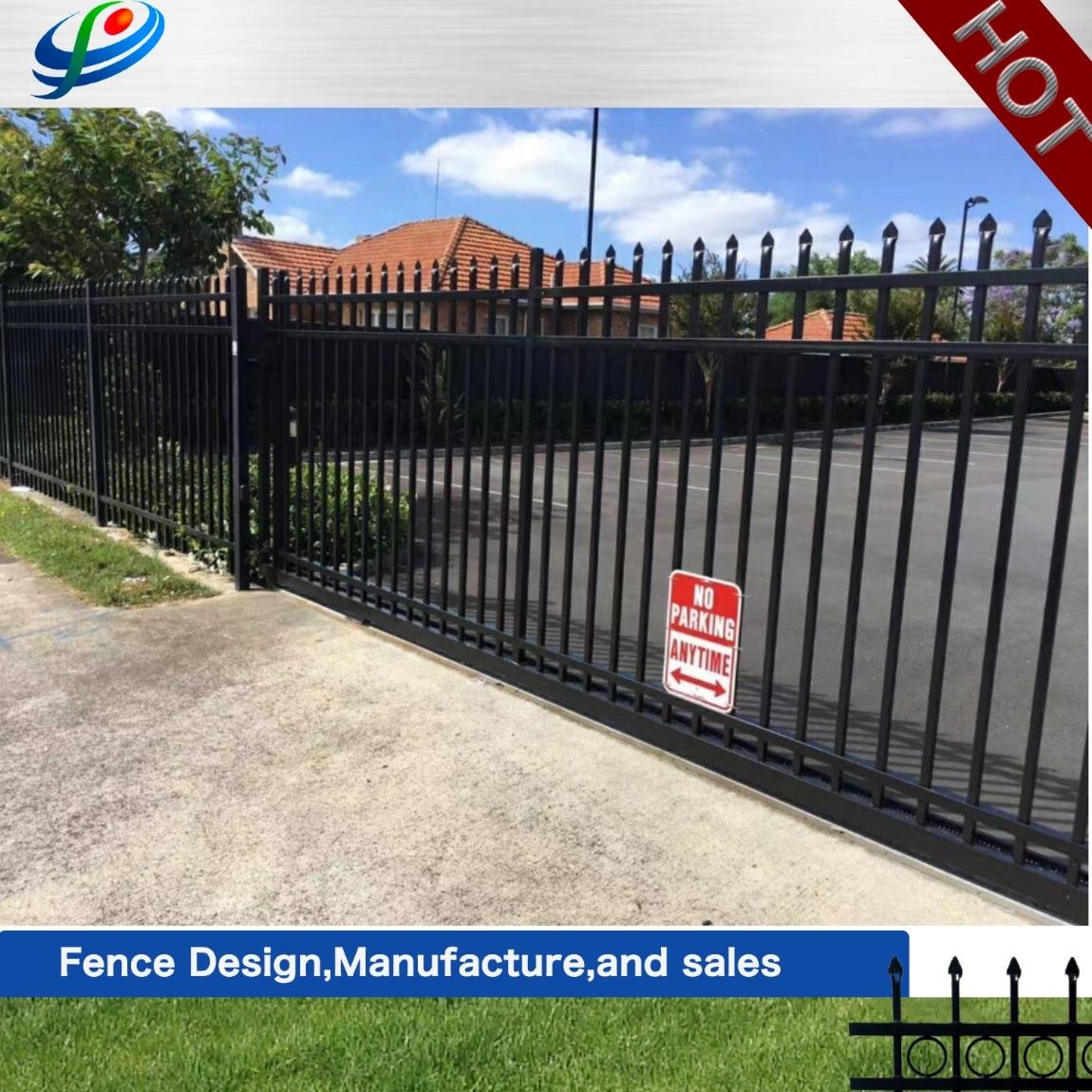 China Gates Design Wrought Iron Gate Beautiful Steel Fence Gate