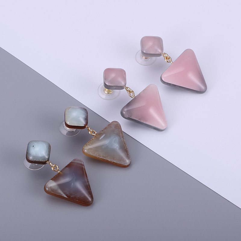 2ba19b179 2018 Latest Design Acrylic Earrings for Triangle Pendant Fashion Jewelry