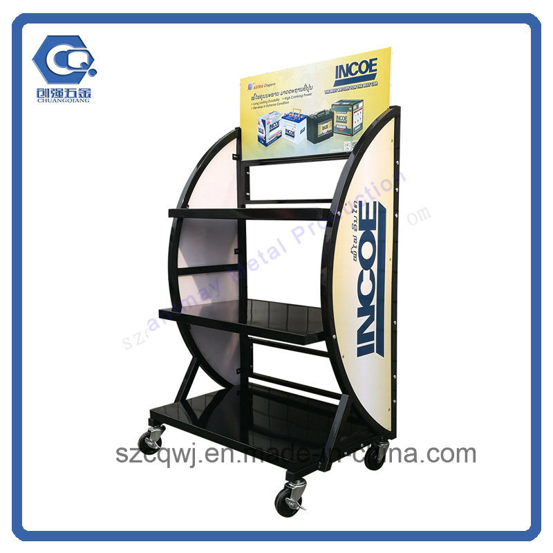 China Customized Removable Metal Car Battery Display Stand With Mesmerizing Car Battery Display Stands
