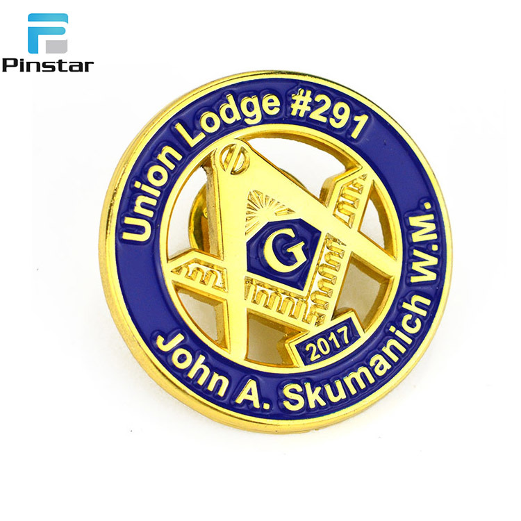 [Hot Item] Suzhou for Sale Freemason Custom Masonic Badge Lapel Pins