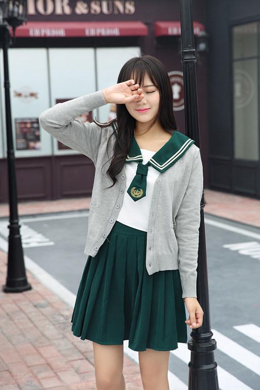 China American Latest Design Girl S High School Uniform