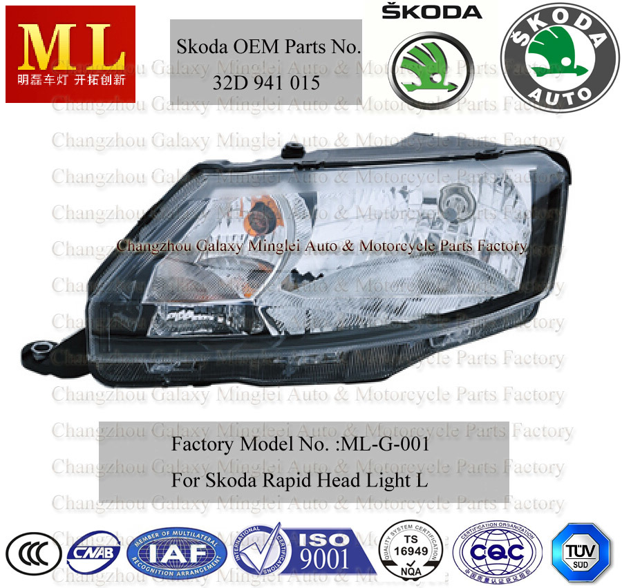 Auto Headlight for Skoda Rapid From 2012 (5JB941015)