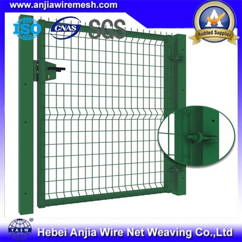 China Powder Coated Chain Link Wire Mesh Fence Gate with CE - China ...