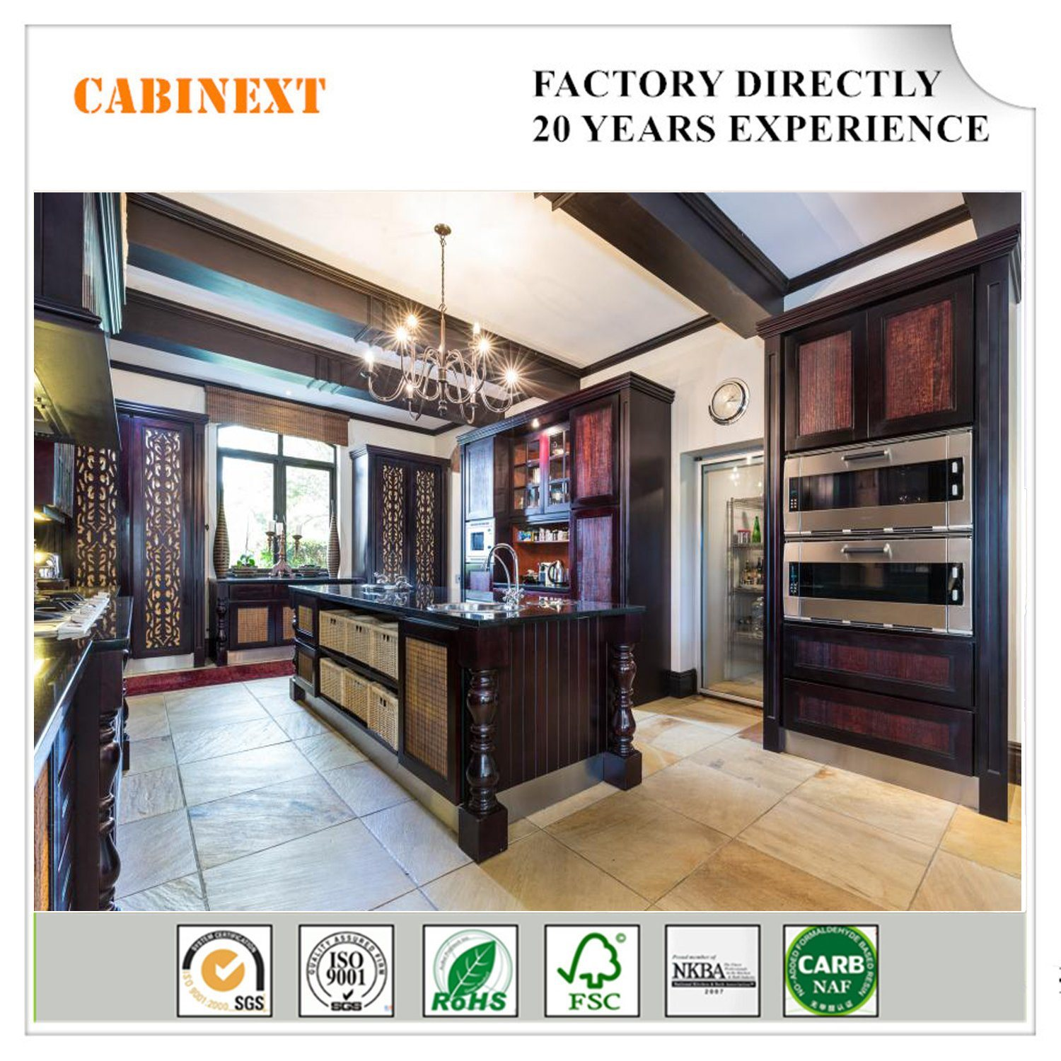 China Custom Small Kitchen Cabinets Design Hotel Projects