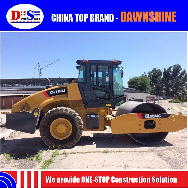 China Xs163j 16tons New Mechanical Single Drum Road Roller Price pictures & photos