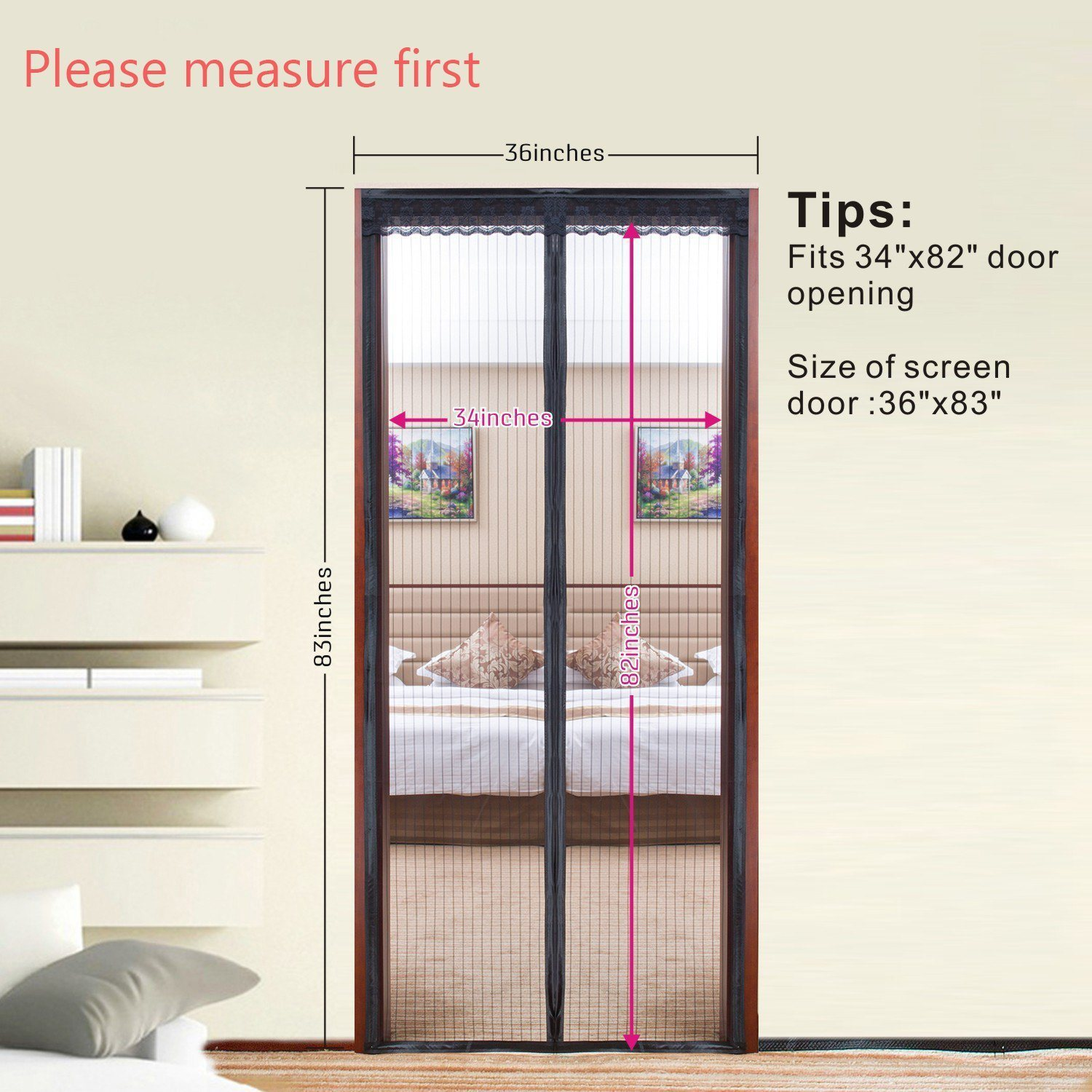 China 2018 Bug Mesh Magnetic Door Screen Curtains With Strong Magnets    China Magic Mesh, Door Mosquito Net