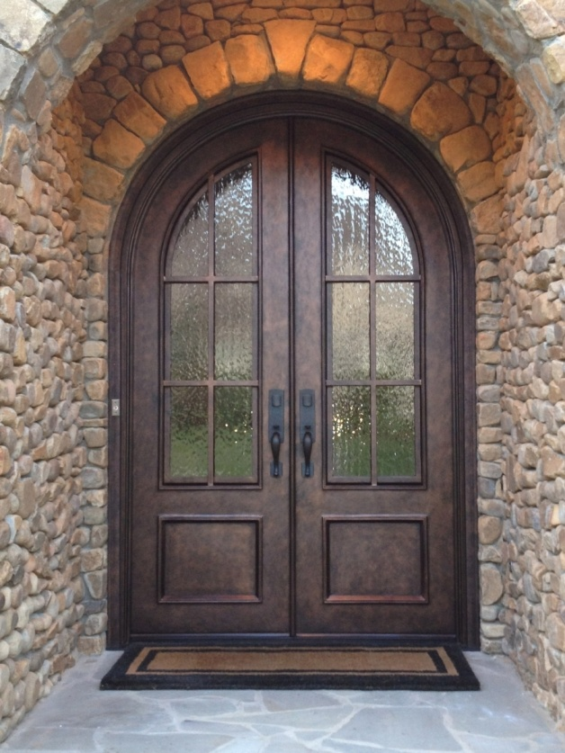 China Latest Design Nice Wrougt Iron Front Door With Competitive