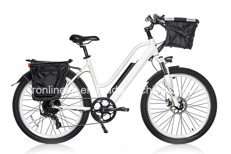 "250W or 500W Powered Electric Bike/Electric Bicycle/E Bike/Pedelec with 26"" X 2.3 or 24X 4tire, Hidden Battery, Ce, En15194"