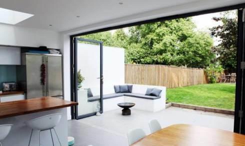 China Home Improvement Aluminium Double Glazing Folding Patio Door