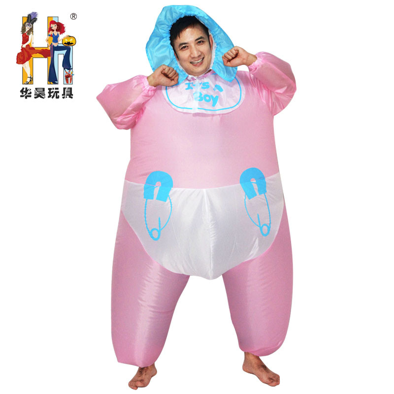 halloween adult funny pretend play infant baby diaper inflatable costume