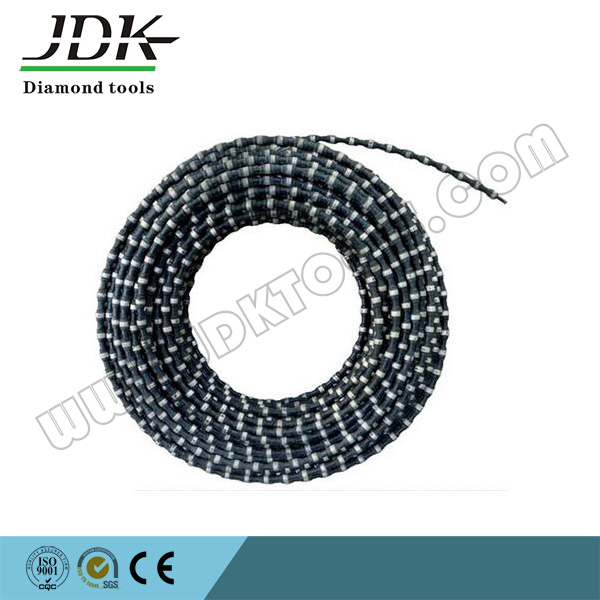 China 11.5mm Rubber Coated Diamond Wire Saw for Stone Quarry ...