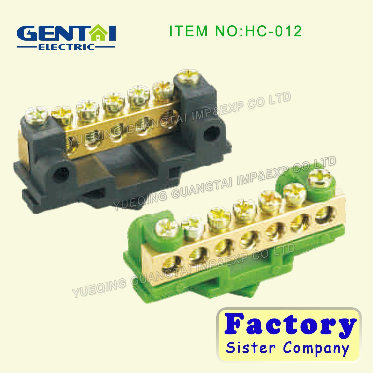 Good Quality Brass Screw Terminal Blocks with Earth Link