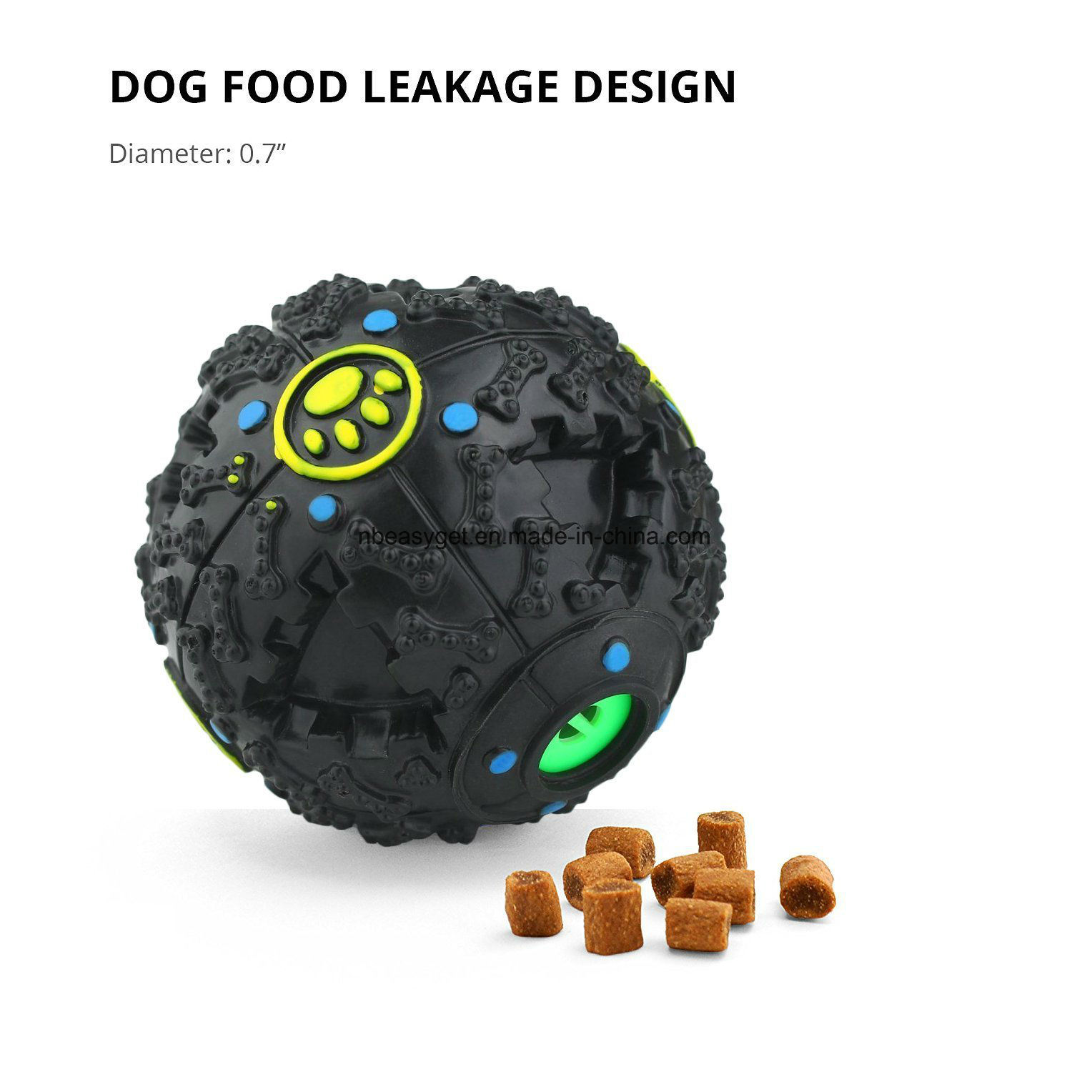 Dog Toys Ball Iq Treat Ball Dog Food Dispenser by Furryfido, for Small/Middles Size (under 30lbs) Dogs Teeth Cleaning, Playing and Chewing pictures & photos