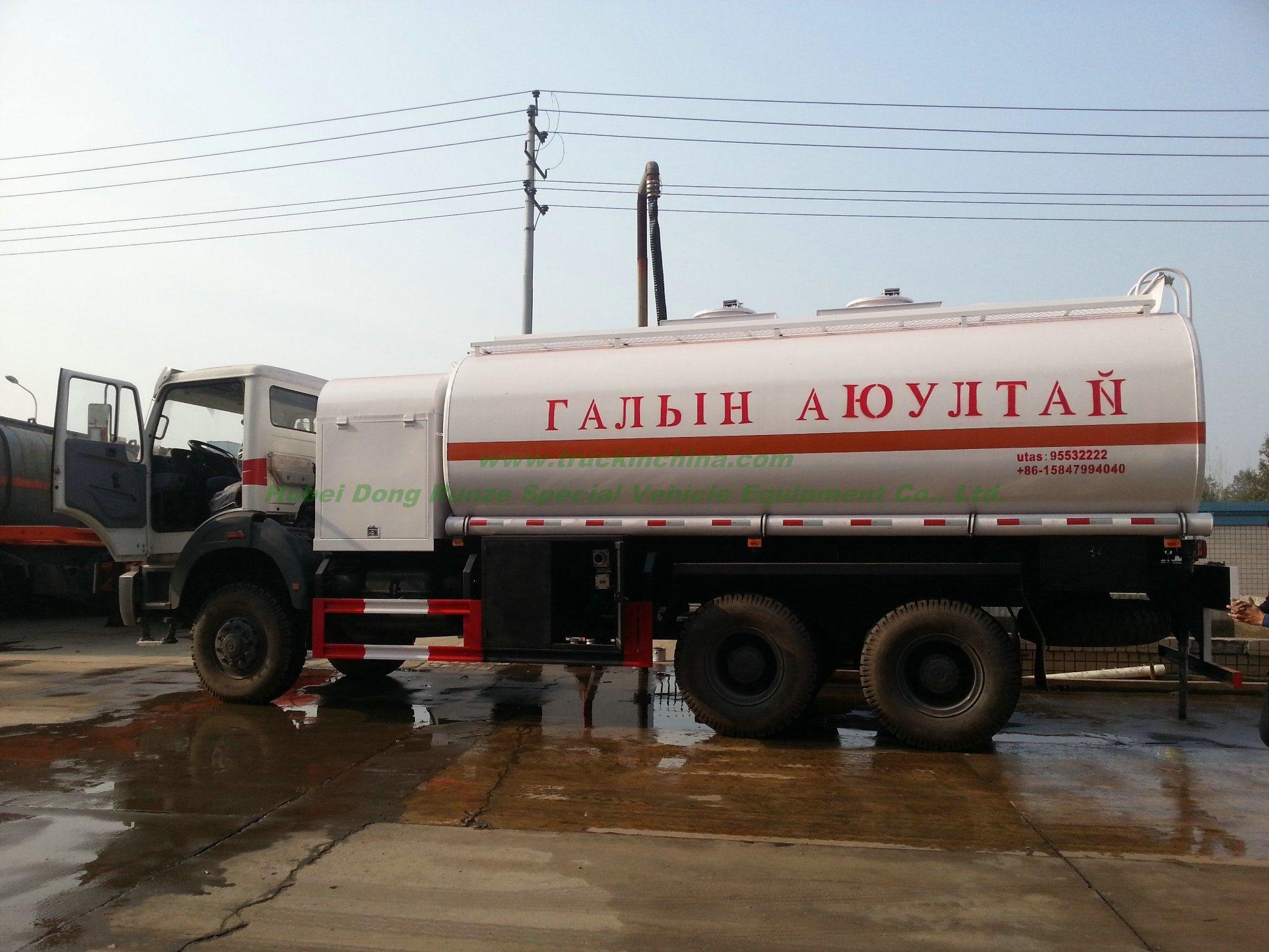 China Beiben Trucks Diesel Bowser off Road All Wheel Drive