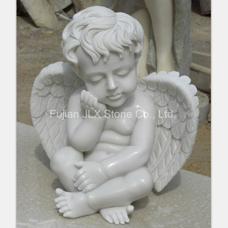 China White Marble Small Baby Angel Statues China Angel Statues