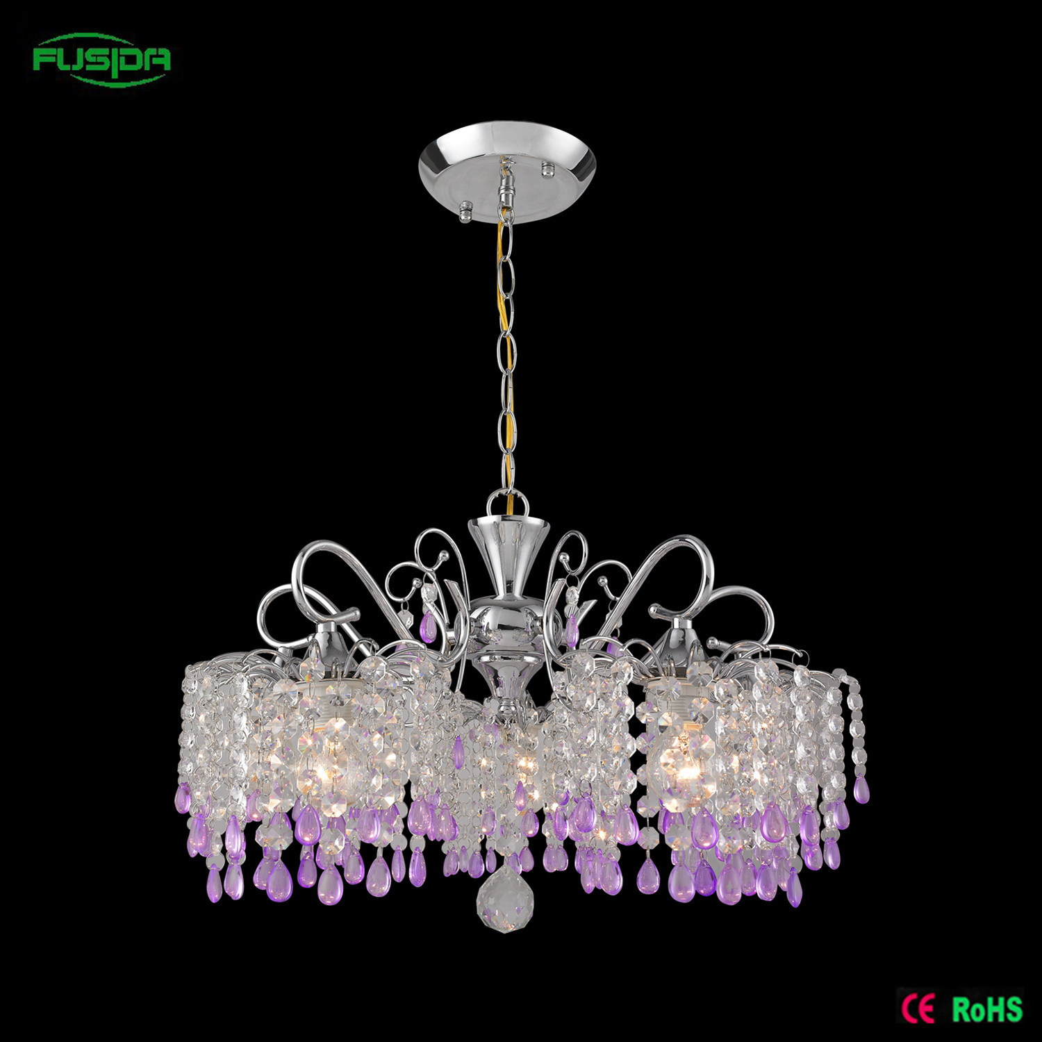 Hot Item Colorful Crystal Chandelier Lighting For Hotel