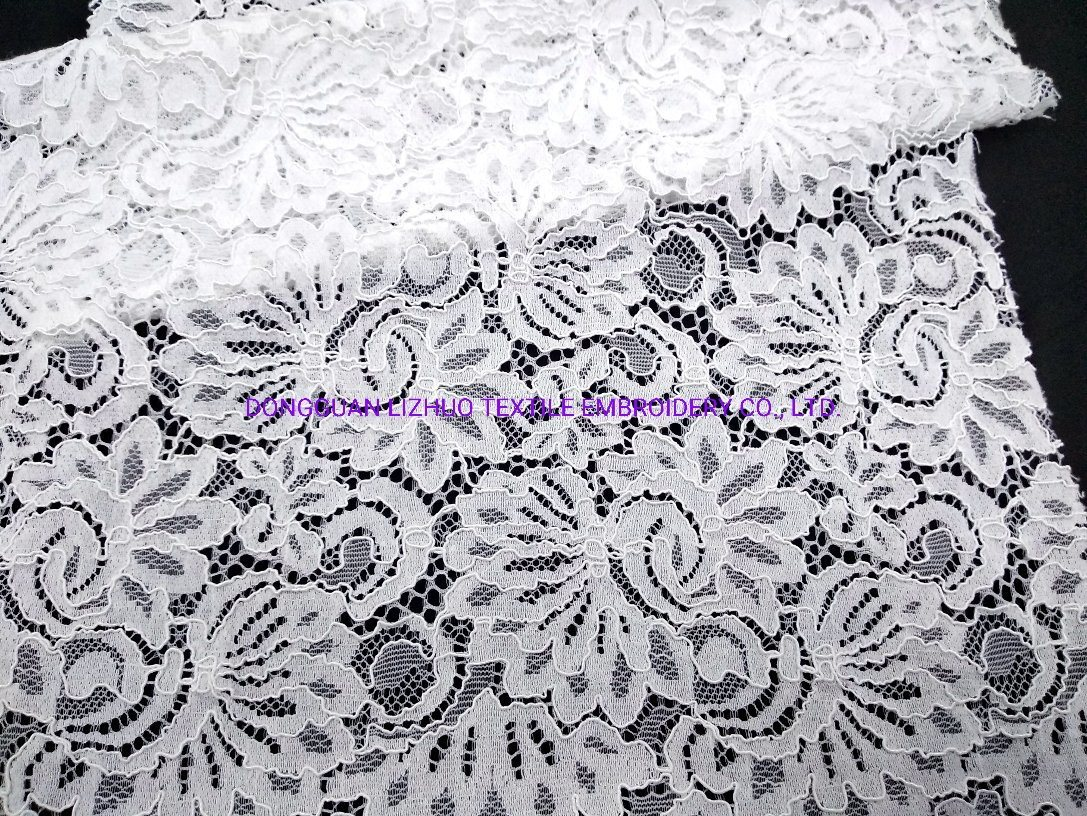 Embroidery Lace Fabric Products Bridal Design Lace of Garment Fabric for Garment Accessorise Dress Cord Eyelash pictures & photos