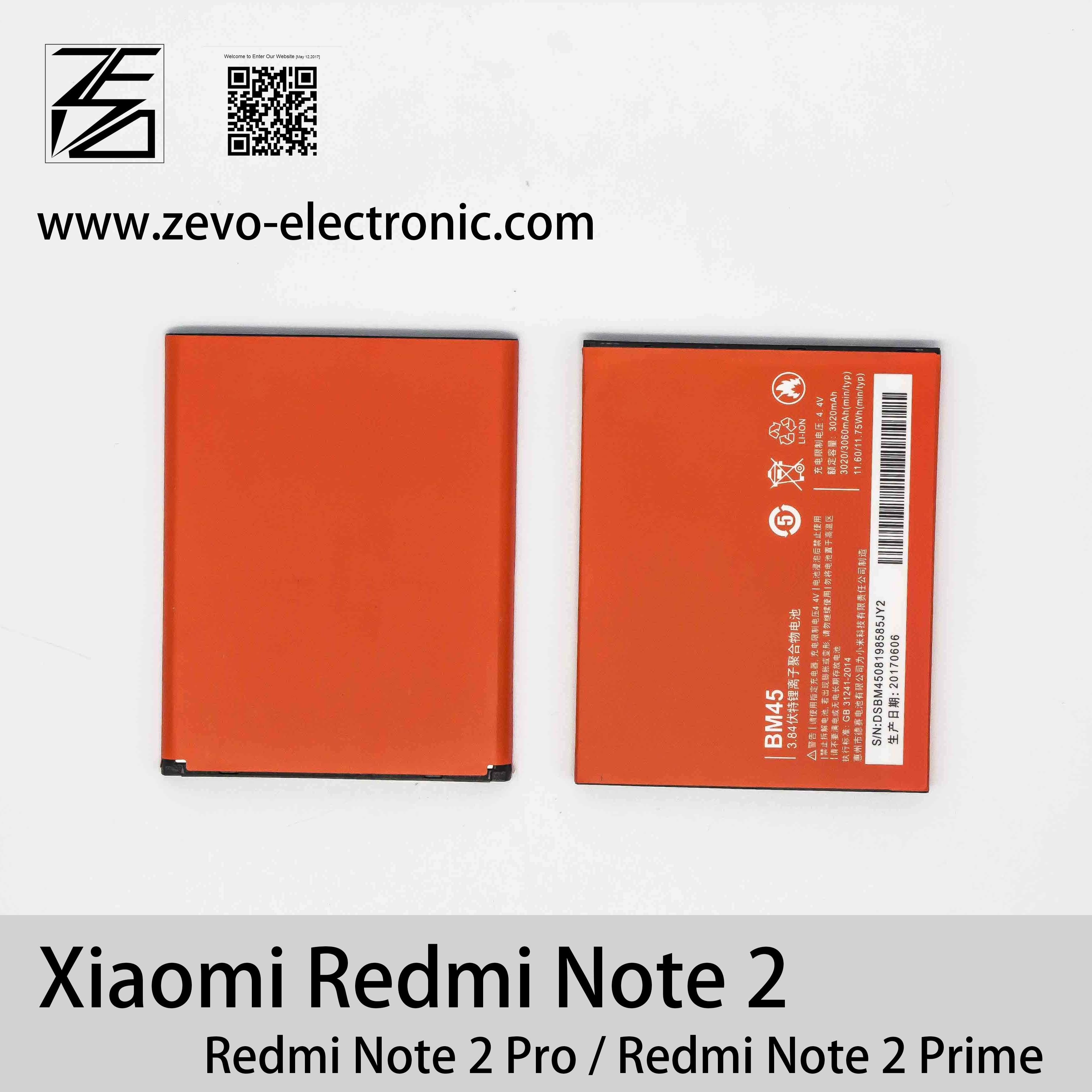 China 384v 3020mah 100 New Mobile Phone Battery Bm45 For Xiaomi Redmi Note 2 Prime Pro