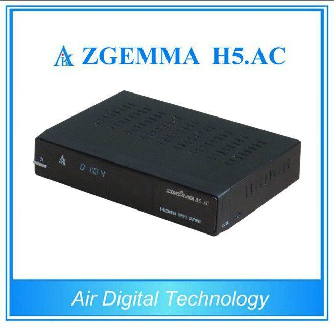 Cananda/Mexico/America Channels Digital Satellite TV Receiver Box DVB-S2+ATSC Hevc/H. 265 Twin Tuners Zgemma H5. AC pictures & photos