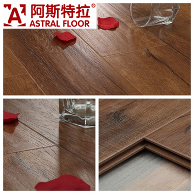 Competitive Price Handscraped Grain Laminate Flooring