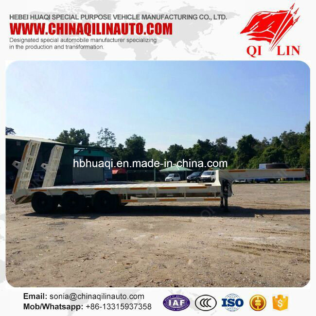 3 Axle 40ton Heavy Duty Low Bed Trailer pictures & photos