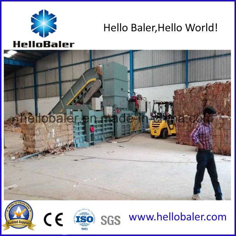 Horizontal Semi Auto Waste Paper Baling Machine (HSA8-10) pictures & photos