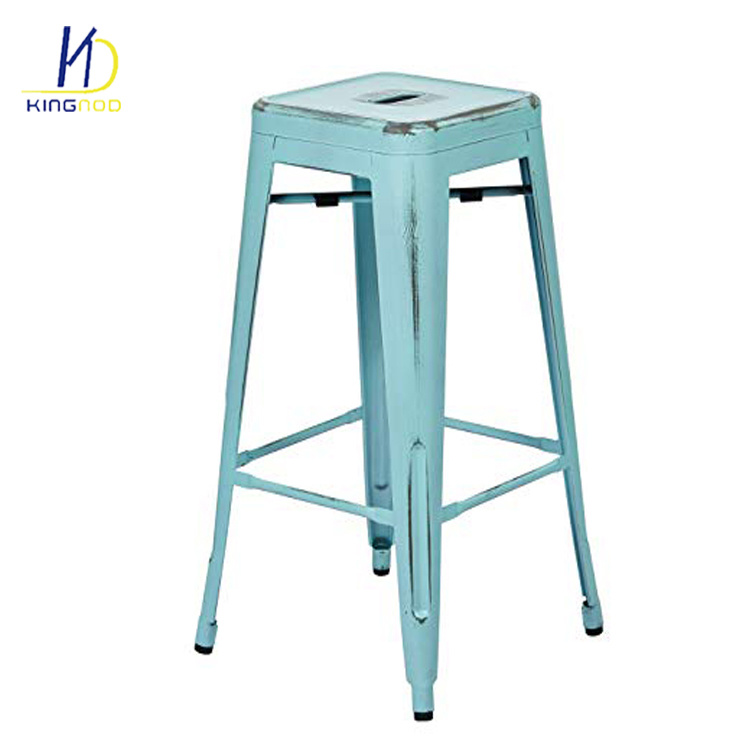 Pleasant Hot Item Vintage Industrial High Metal Bar Stools Chair With Footrest Inzonedesignstudio Interior Chair Design Inzonedesignstudiocom