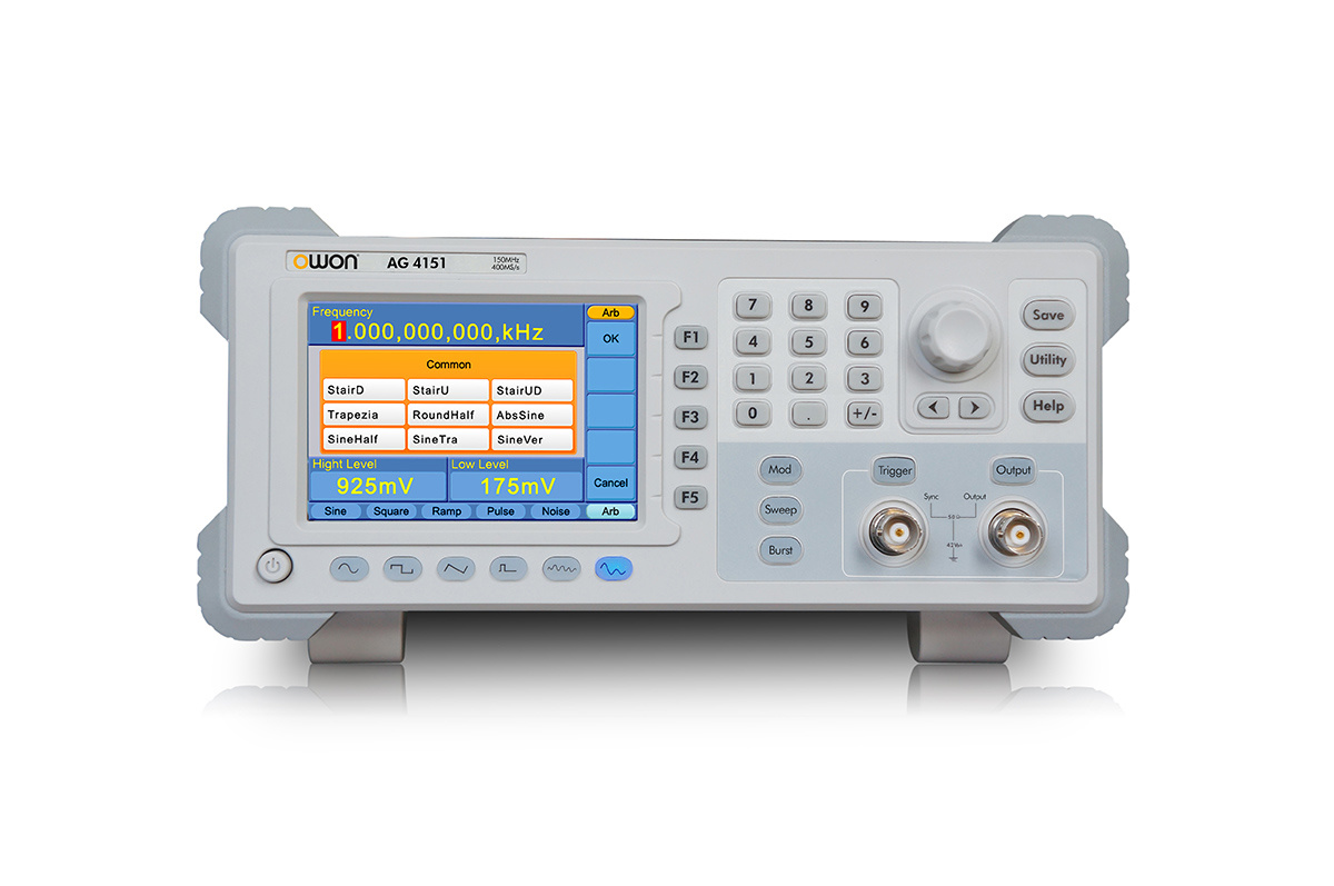 OWON 80MHz Single-Channel Arbitrary Signal Generator (AG4081)